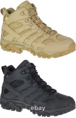 Merrell Moab 2 MID Waterproof Tactique Militaire Armée Combat Desert Boots Mens
