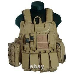 Mil-tec M. Livraison Molle Military Tactical Combat Vest Pochettes Standard Nato Nouveau