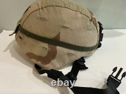 Military Tactical Ach Advanced Combat Helmet W Cover Skydex Pads And Chinstrap