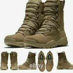 Nike Sfb Field 2 Bottes De Combat Tactique Militaire 8 Coyote En Cuir Aq1202-900
