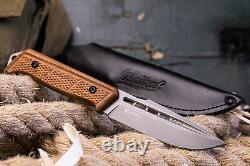 Nouvelle Kalachnikov Préoccupation Couteau Tactique Militaire Baïkal K340 Steel Handle Walnut