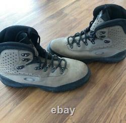 Oakley Brown Black Leather Tactical Military Hiking Boots Hommes 12