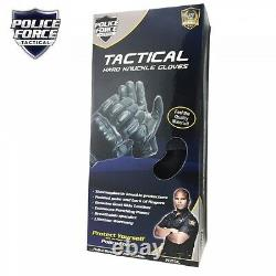 Police Militaire Swat Tactical Leather Combat Assault Hard Knuckle Shooting Glove