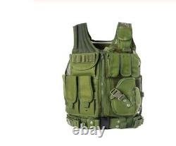 Police Swat Forces Spéciales Armée Tactique Molle Molle Assaut Gilet De Combat Camo