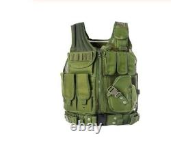 Police Swat Special Forces Tactical Army Military Molle Assault Vest Combat Camo