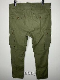 Polo Ralph Lauren 33x30 Cargo Vert Militaire Pantalon Tactique Rrl Slim Combat Vtg