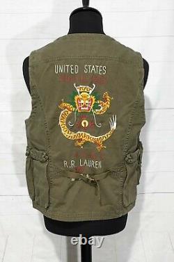 Polo Ralph Lauren Veste De Combat Tactique Militaire De Combat De Champ De Combat Gilet M