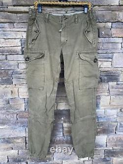 Super Rare Vtg 32/32 Rlpc Polo Ralph Lauren 1967 Combat Militaire Gs Cargo Pants