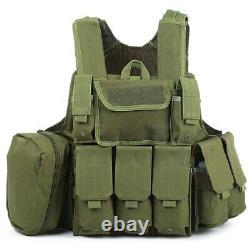 Tactical Military Battle Combat Airsoft Molle Bullet Assault Plate Carrier Vest