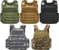 Tactical Plate Carrier Vest Assault Military Combat Molle Modulaire Réglable