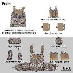 Tactique Vest Militaire Molle Airsoft Corps Armor Combat Plate Carrier Multicam