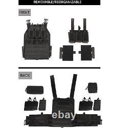 Tactique Vest Militaire Molle Shield Plate Carrier Combat Corps Rembourré Armor