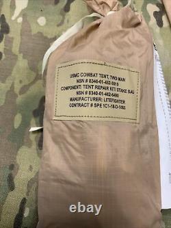 Usmc Tente De Combat Deux Hommes Woodland Camo Système Militaire Tactique Litefighter