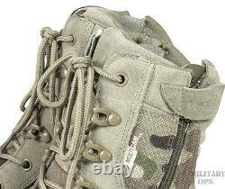Viper Special Ops Patrouille Bottes Multicam Mtp Combat Tactique Militaire Côté Zip